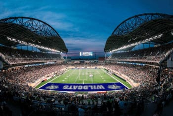 Free Realistic Football Field Mockup in PSD