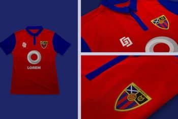 Free Football Jersey Design Mockup in PSD