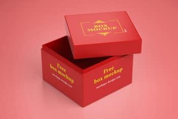 Elegant Free Gift Box Mockup