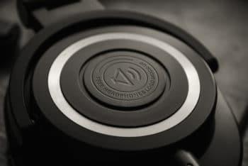Free Headphone Logo Closeup Mockup in PSD