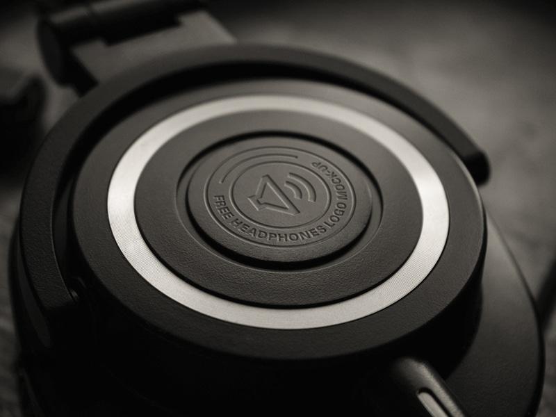 Headphone Logo Closeup