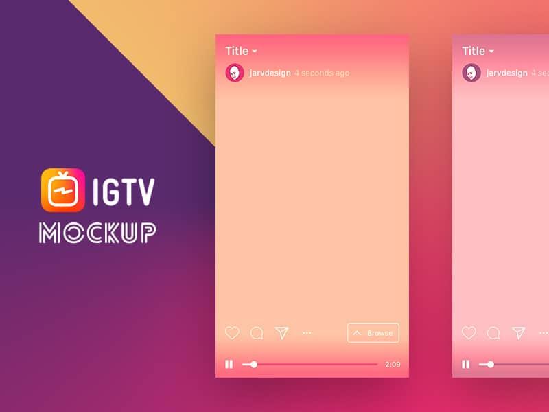 IGTV App UI Template