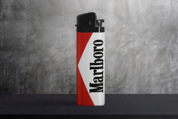 Free Lighter Mockup In PSD