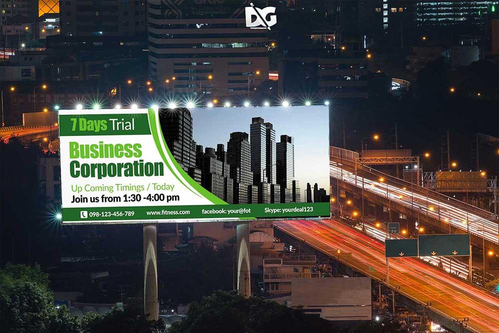 free lighting billboard mockup