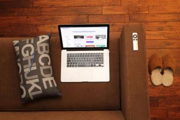Free MacBook Mockup in PSD