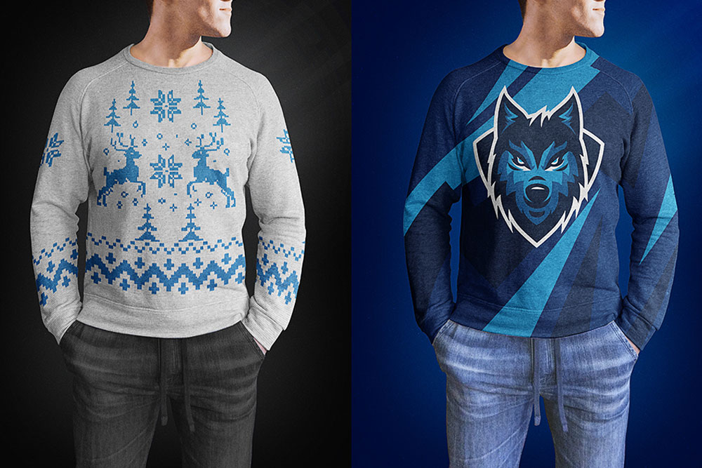 free men sweater mockup