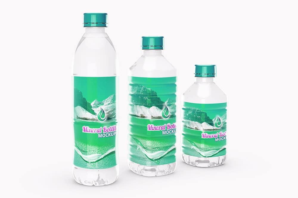 free mineral bottle mockup