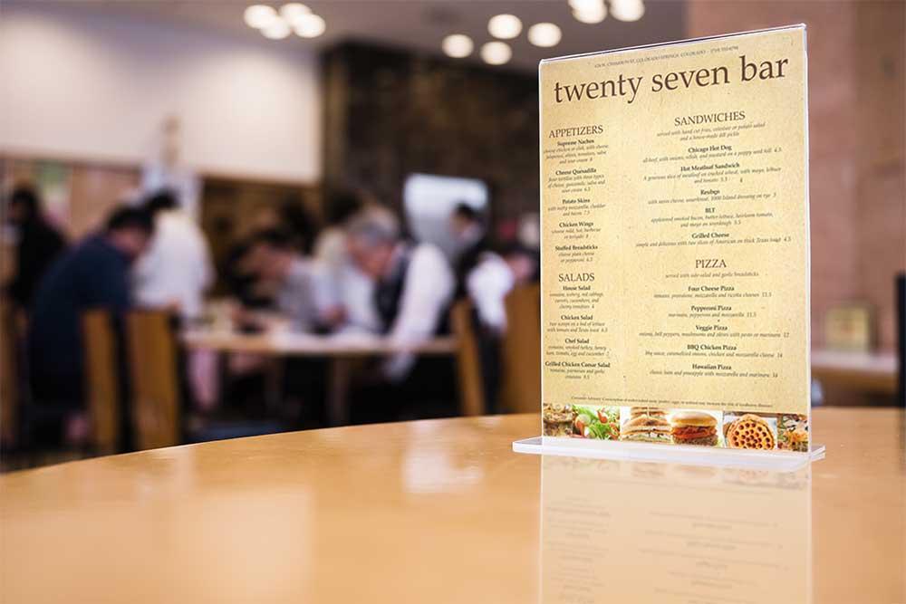 free restaurant menu mockup