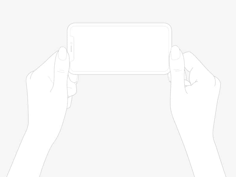 Line Draw iPhone X Plus Hands