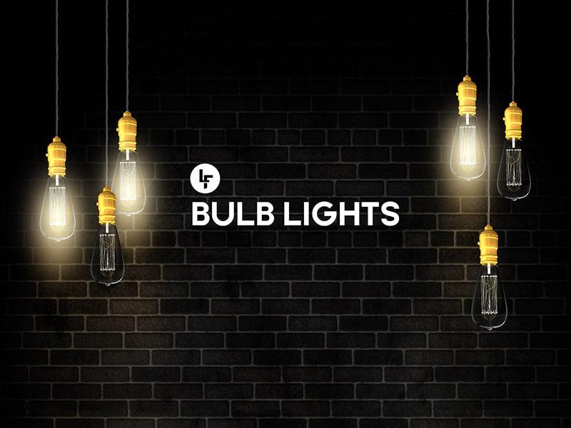 Free Hanging Light Bulbs Mockup In Psd Designhooks