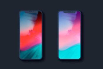 Fully-Customizable iPhone X Mockup in PSD