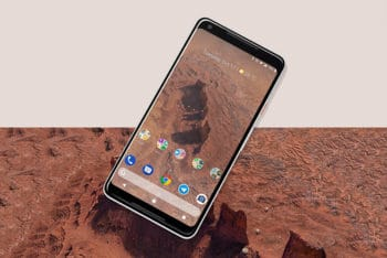 Free Large Google Pixel Phone Mockup in PSD