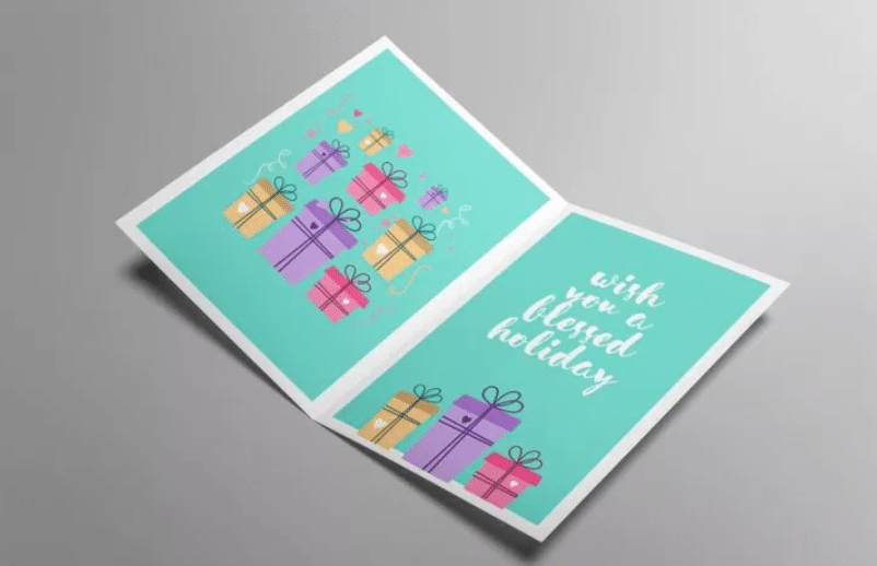 Greeting Card PSD Mockup Template Design