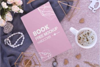 Elegant Looking Hardcover Book Design Mockup