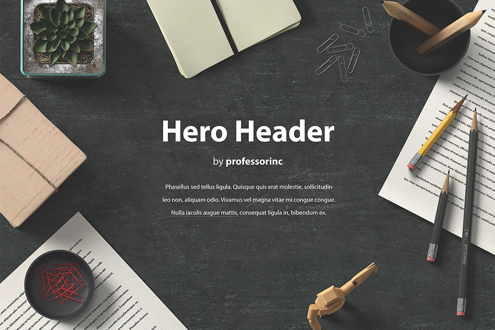 hero header mockup free psd
