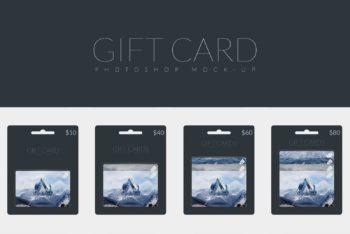Realistic Gift Card Design Mockup Freebie