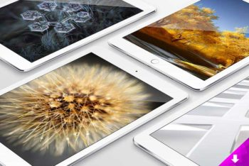 Awesome Apple iPad PSD Mockup