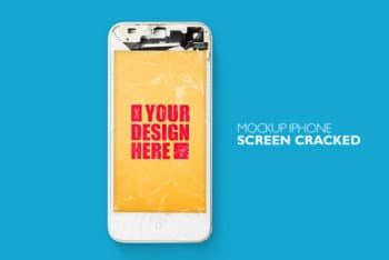 Free Cracked iPhone Screen Mockup in PSD