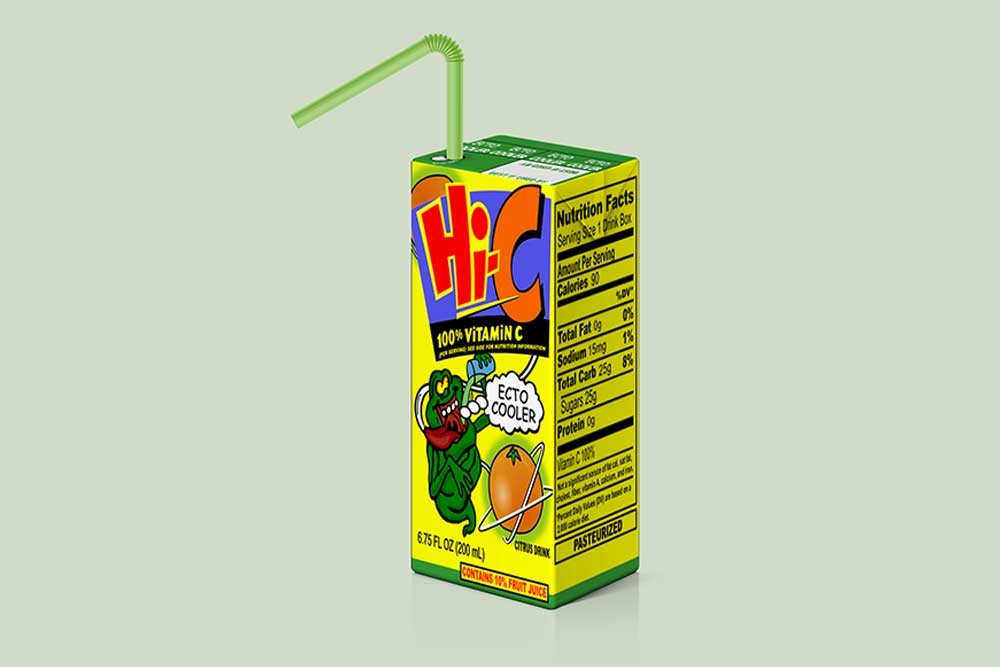 juice packaging box mockup