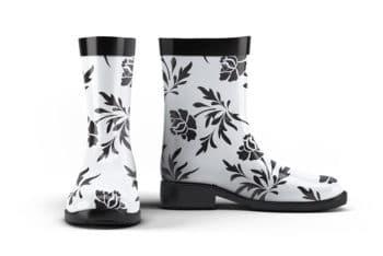 Kids Rain Boots Mockup