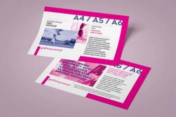 Free Horizontal Leaflet Mockup In PSD