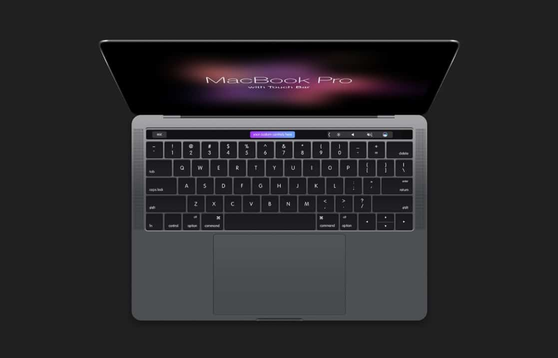 MacBook Plus Touch Bar View