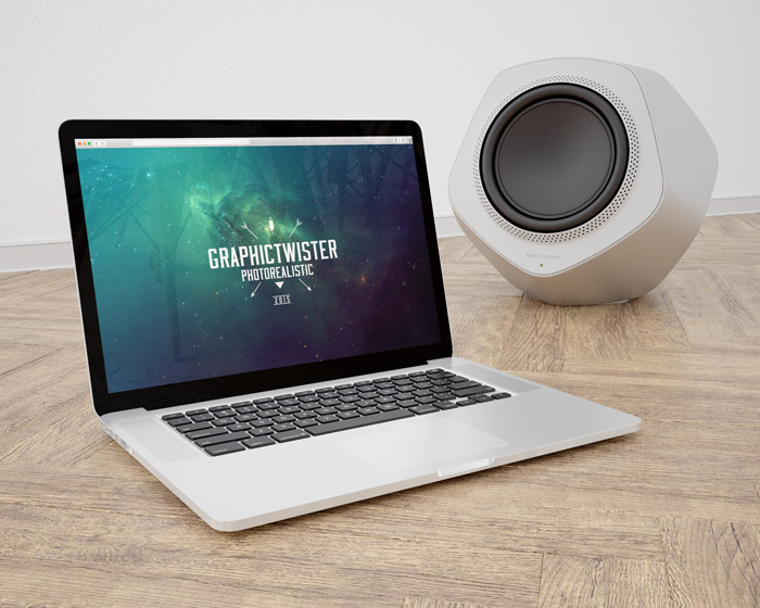MacBook Plus Bang Olufsen Speaker