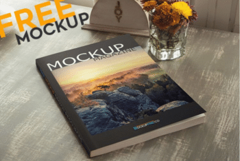 Beautiful & Free Magazine PSD Mockup