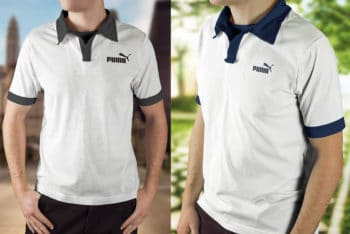 Free Polo Shirt Mockup in PSD