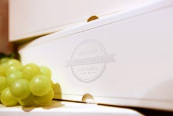 Free Wine Presentation Plus Grapes Mockup in PSD