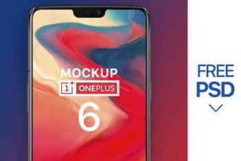 Free OnePlus 6 Smartphone Model Mockup in PSD