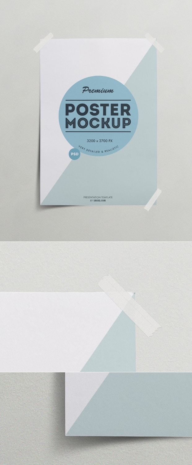 Taped Poster Template