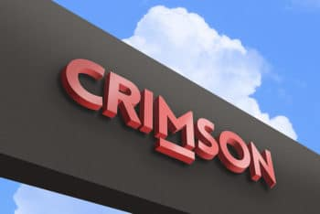 Free Crimson Outdoor Logo Mockup in PSD