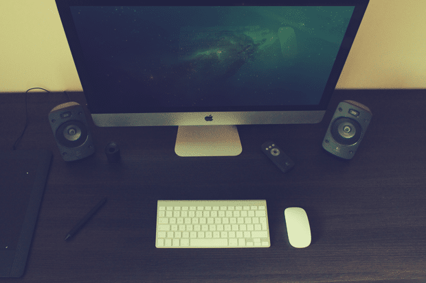 Photorealistic iMac Scene