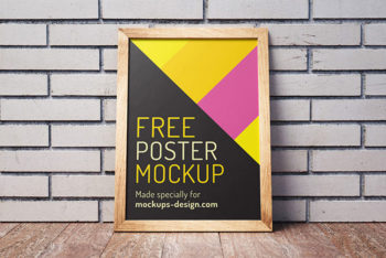 Free Posters Mockup In PSD