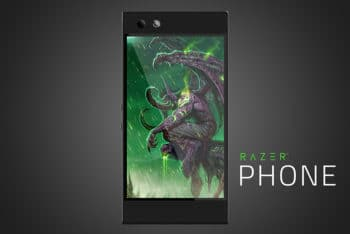 Free Razer Phone Model Mockup in PSD