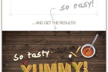 Free Sandwich Text Design Mockup in PSD