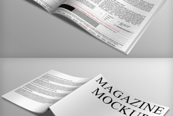 Magazine Mockup Available With Customizable Features