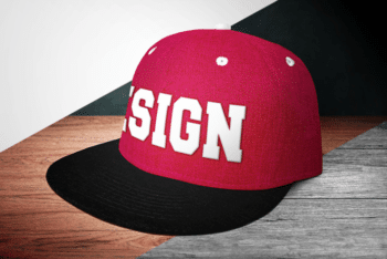 Fashionable & Cool Looking Snapback PSD Mockup