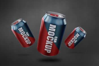 Soda Can Mockup Free PSD