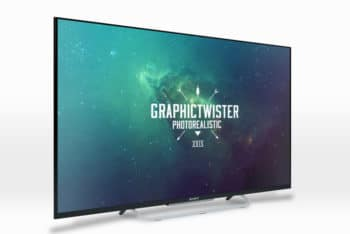 Free Customizable Large Sony TV Mockup in PSD