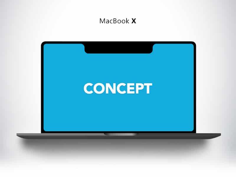 Space Grey MacBook X Concept