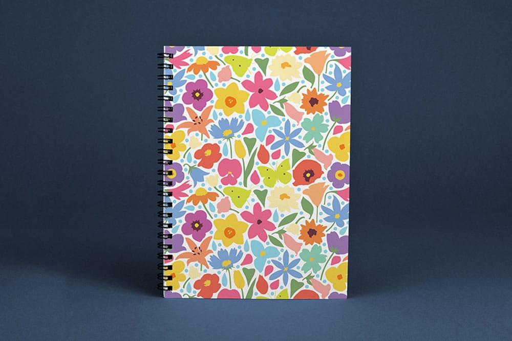 free download spiral notebook mockup