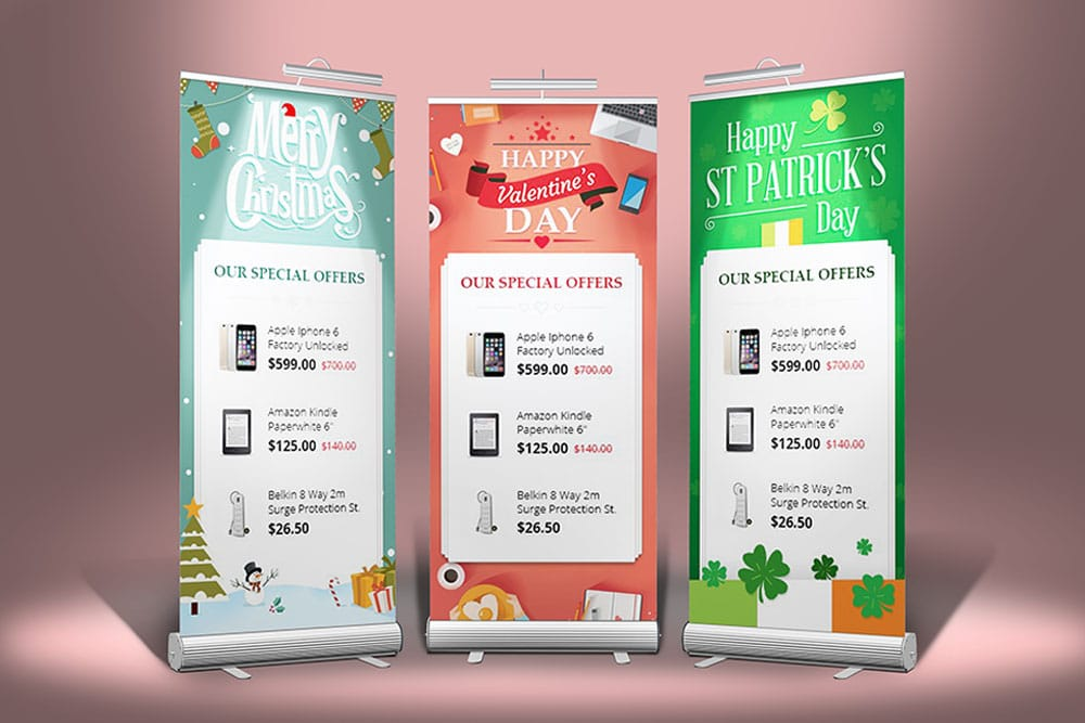 stand roll-up banner mockup