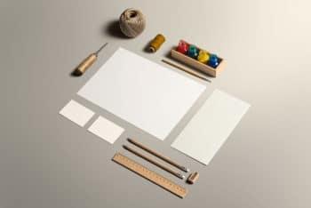 Arts Plus Crafts Stationery Scene Mockup Freebie