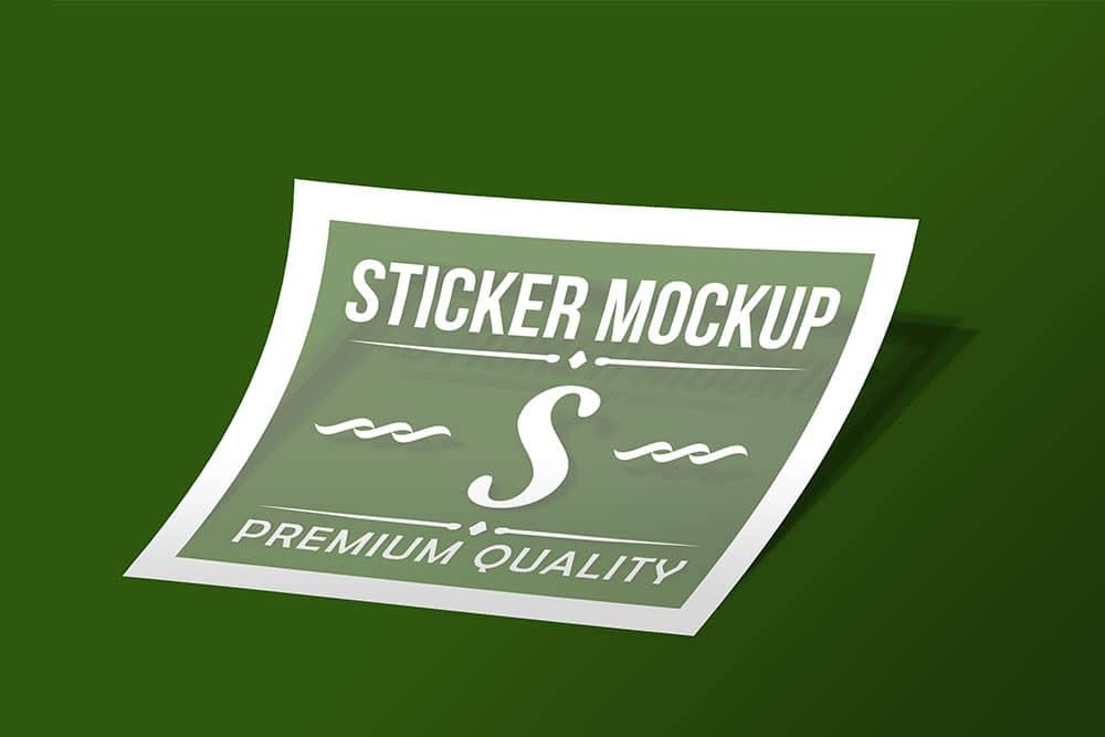 sticker mockup free psd