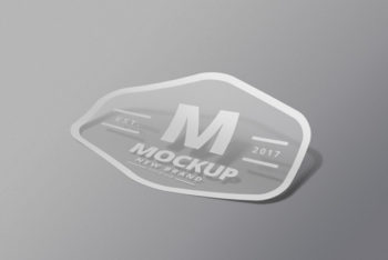 Free Customizable Brand Logo Sticker Mockup in PSD