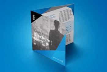Free Trifold Square Brochure Mockup