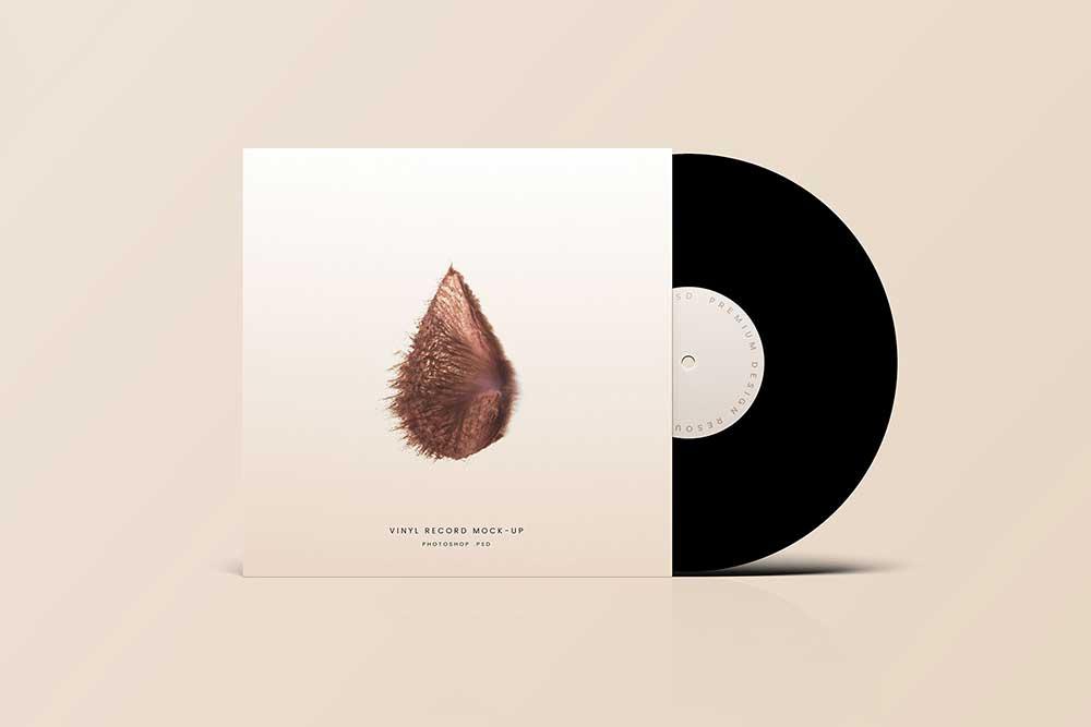 free download vinyl record mockup
