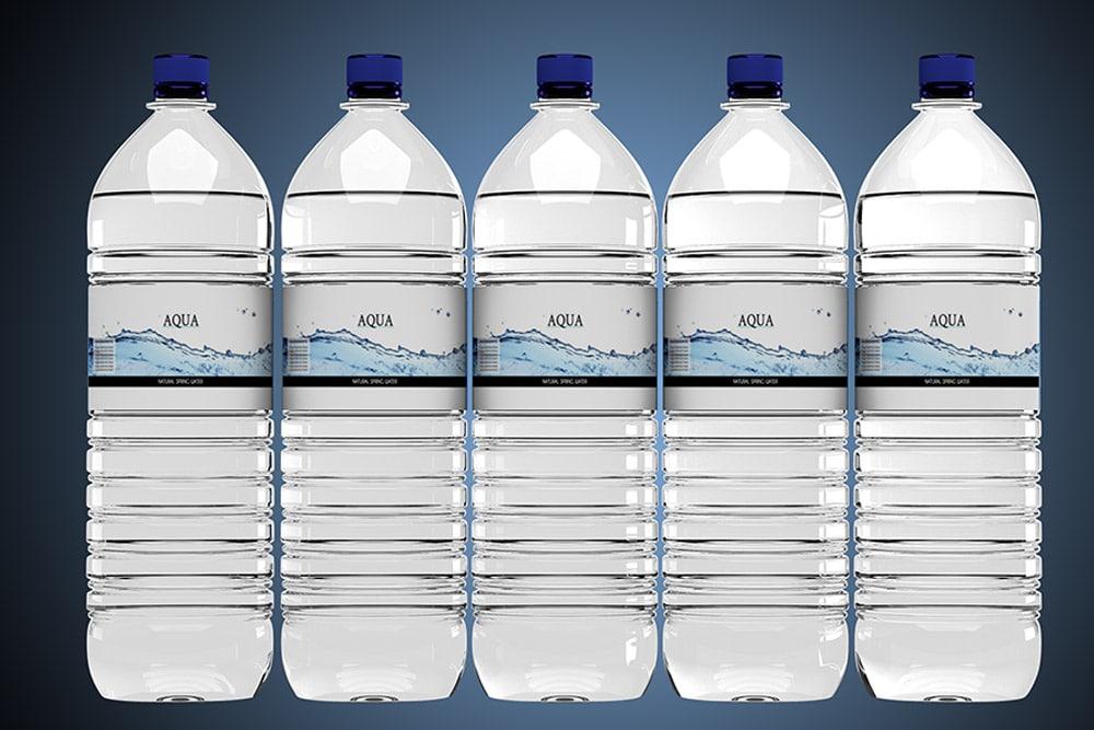 water bottle label mockup